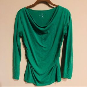 New York & Co long sleeve green top size S
